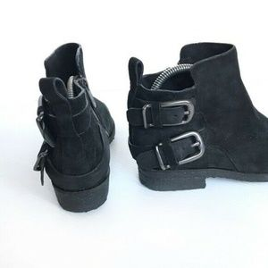 Sigerson Morrison Belle Suede Ankle Buckle Boots
